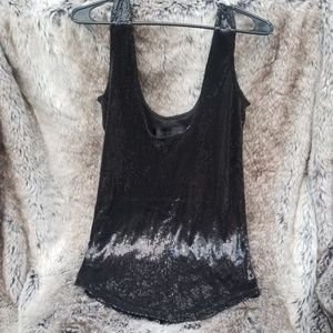 Black Sequence Tank: XS